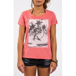 """Mystic Damen Tee """"Contagious"""" faded coral"""