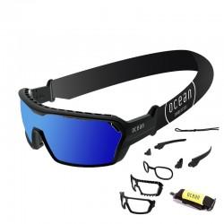 Ocean Wassersportbrille Chameleon black revo blue