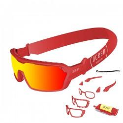 ocean3700.5x  - Ocean Wassersportbrille Chameleon black revo red