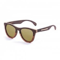 ocean66002.0  - Ocean Bamboo Sonnenbrille Wedge brown