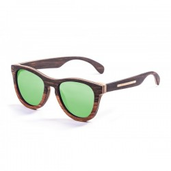 ocean66001.0  - Ocean Bamboo Sonnenbrille Wedge green revo