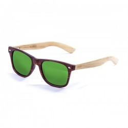 ocean50002.3-b-2  - Ocean Bamboo Sonnenbrille Beach Wood brown revo green