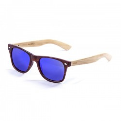 ocean50001.3-b-3  - Ocean Bamboo Sonnenbrille Beach Wood redbrown revo blue