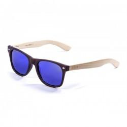 ocean50501.3-b-2  - Ocean Bamboo Sonnenbrille Beach Wood redbrown s revo blue