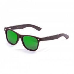ocean50012.2-b-2  - Ocean Bamboo Sonnenbrille Beach Wood brown revo green