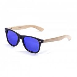 ocean50001.1-b-2  - Ocean Bamboo Sonnenbrille Beach Wood black revo blue