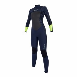 Mystic Diva Fullsuit 5/3mm Fzip Women navy/lime