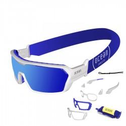 ocean3701.2x  - Ocean Wassersportbrille Chameleon white blue revo