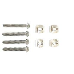 MH129  - Moses Foil 4 x Track nuts M8, screws M8x30 and washers