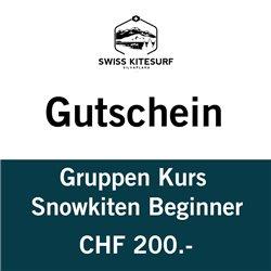 Snowkite group course 2-4 hours voucher