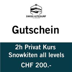 Snowkite Private course 2 hours voucher