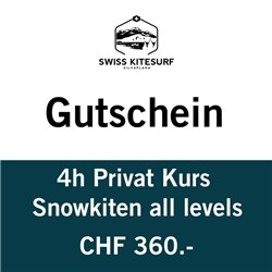 Snowkite Private course 4 hours voucher