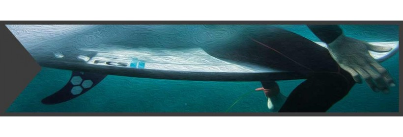 Directional Fins for Surfboards and Kitesurfboards